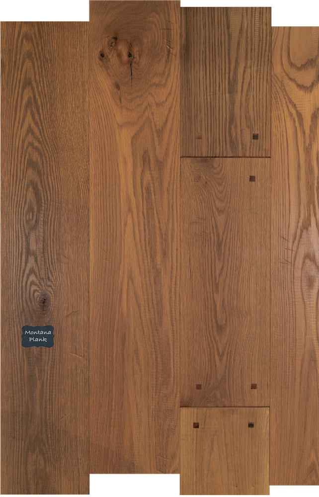 Montana Plank Reclaimed White Oak Wood Flooring. Montana Plank is a great option for a high traffic commercial use application with high durability and long lasting finish.
