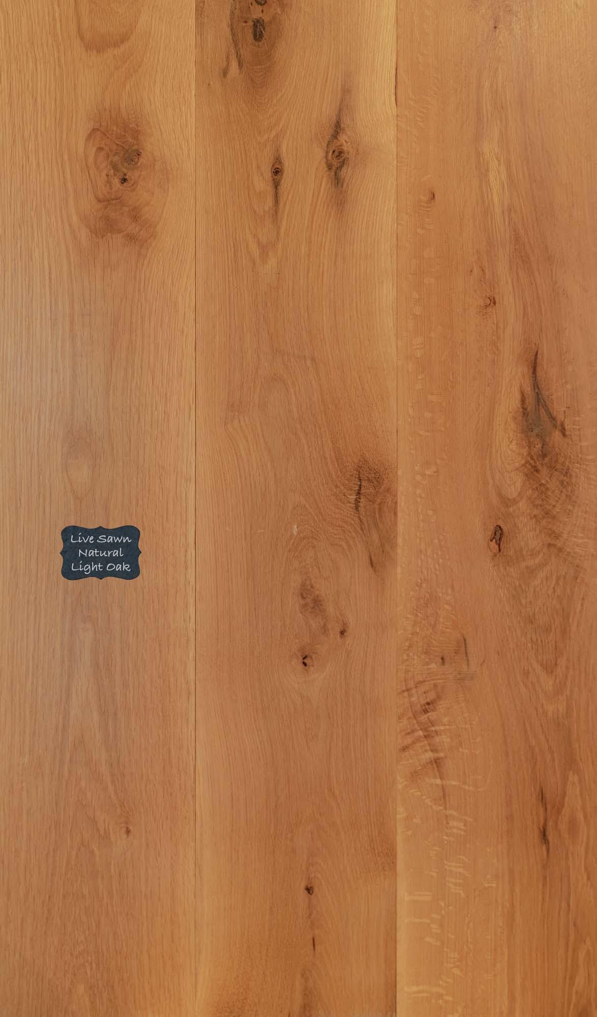 Live Sawn Natural Light oak Wood Flooring