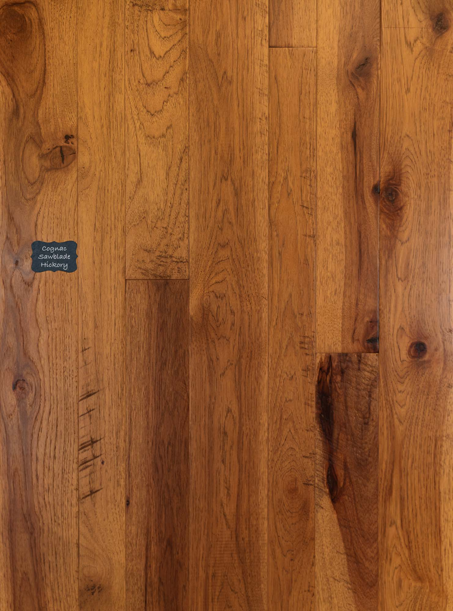 Cognac Sawblade Hickory Wood Flooring.