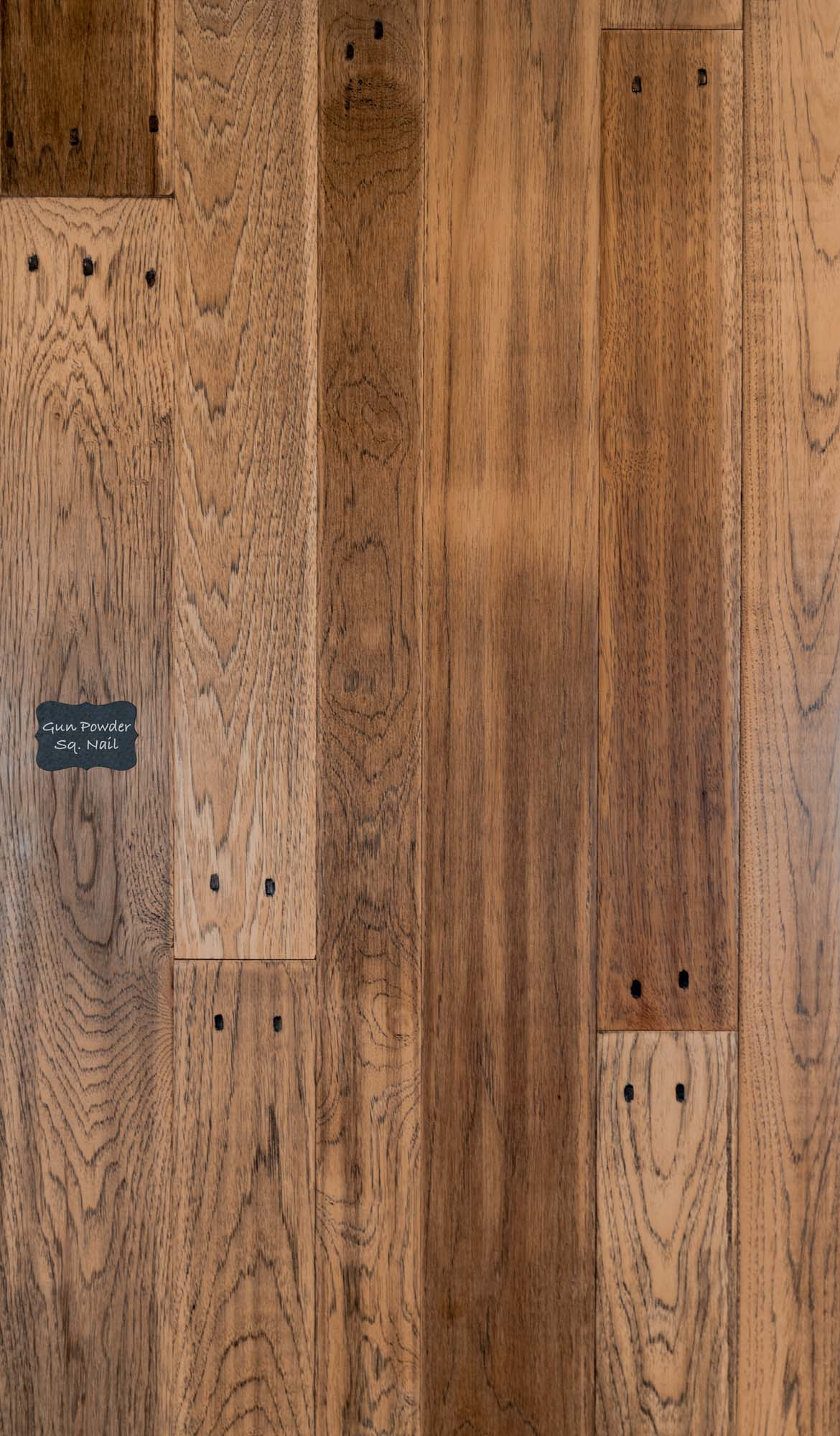 Gunpowder Hickory Square Peg Wood Flooring. Hickory Hardwood Flooring is a great choice for a high contrast classic look on your floors.