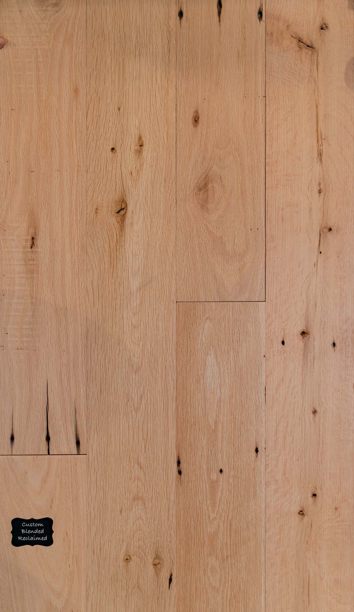 Custom Blended Reclaimed Wood Flooring. Our Custom Blends are created with the customer and manufacturer getting together and creating exactly what the customer wants.