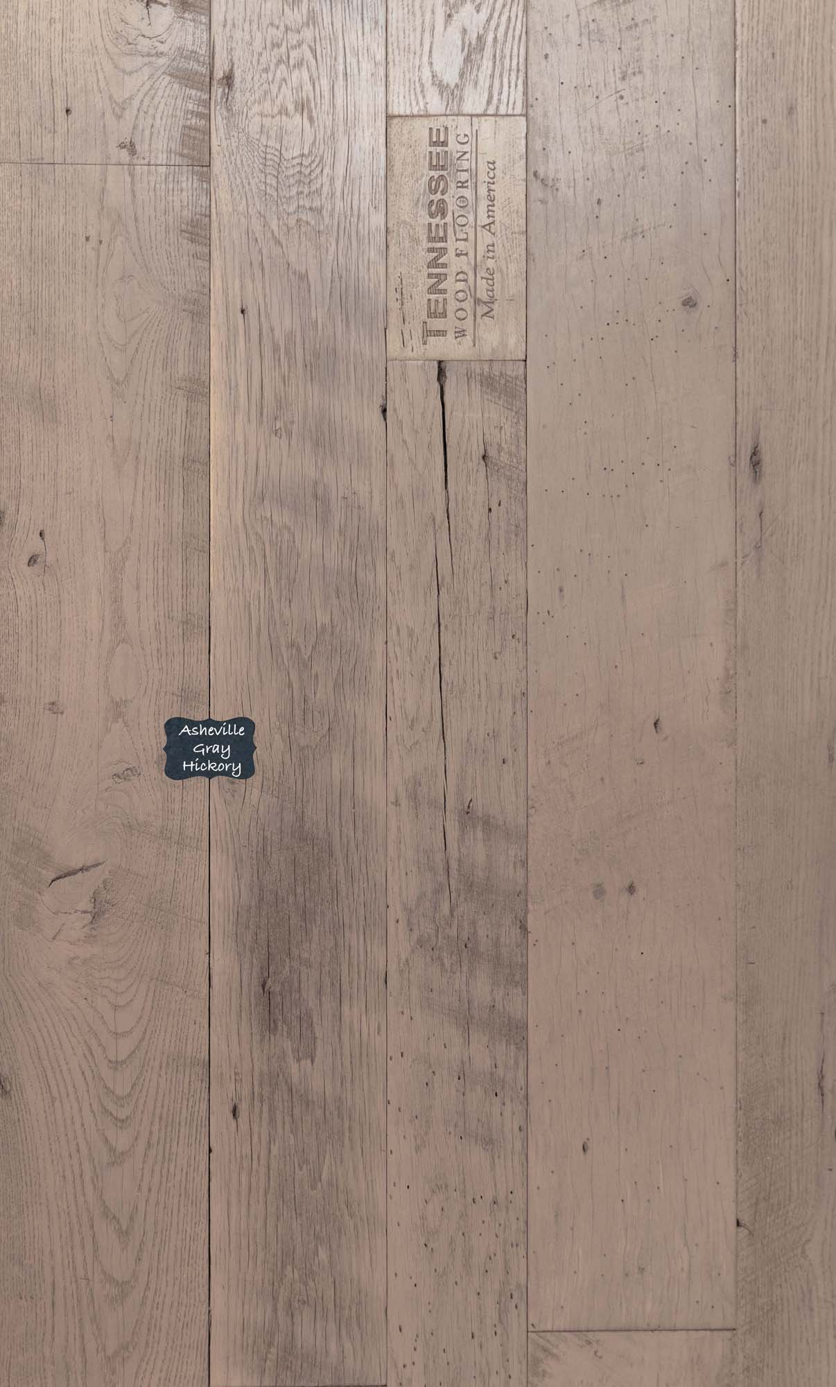 Asheville Gray Hickory Reclaimed Wood Flooring. Our Reclaimed lineup is our premium quality product line with a unique and classic look