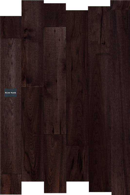 River Rock Hickory Wood Flooring. Hickory Hardwood Flooring is known for being beautiful and durable