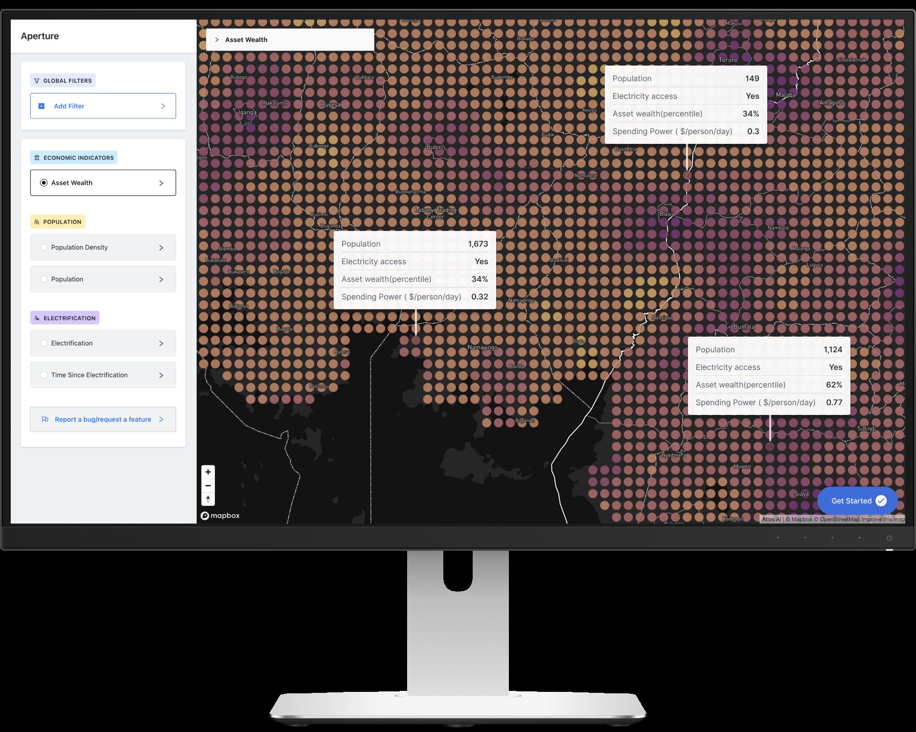 Desktop view illustration of the Aperture product