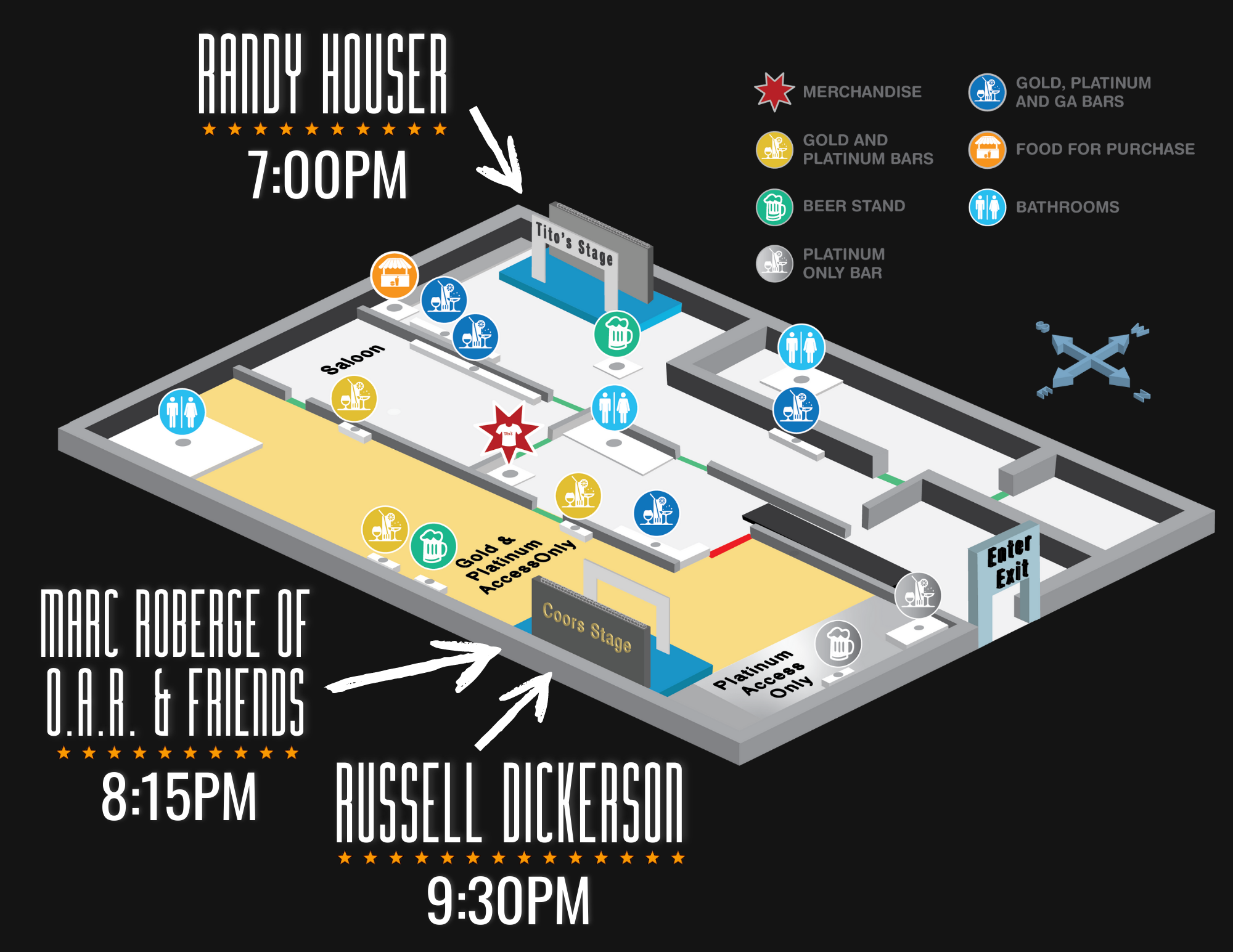 WeishFest Map with Artists