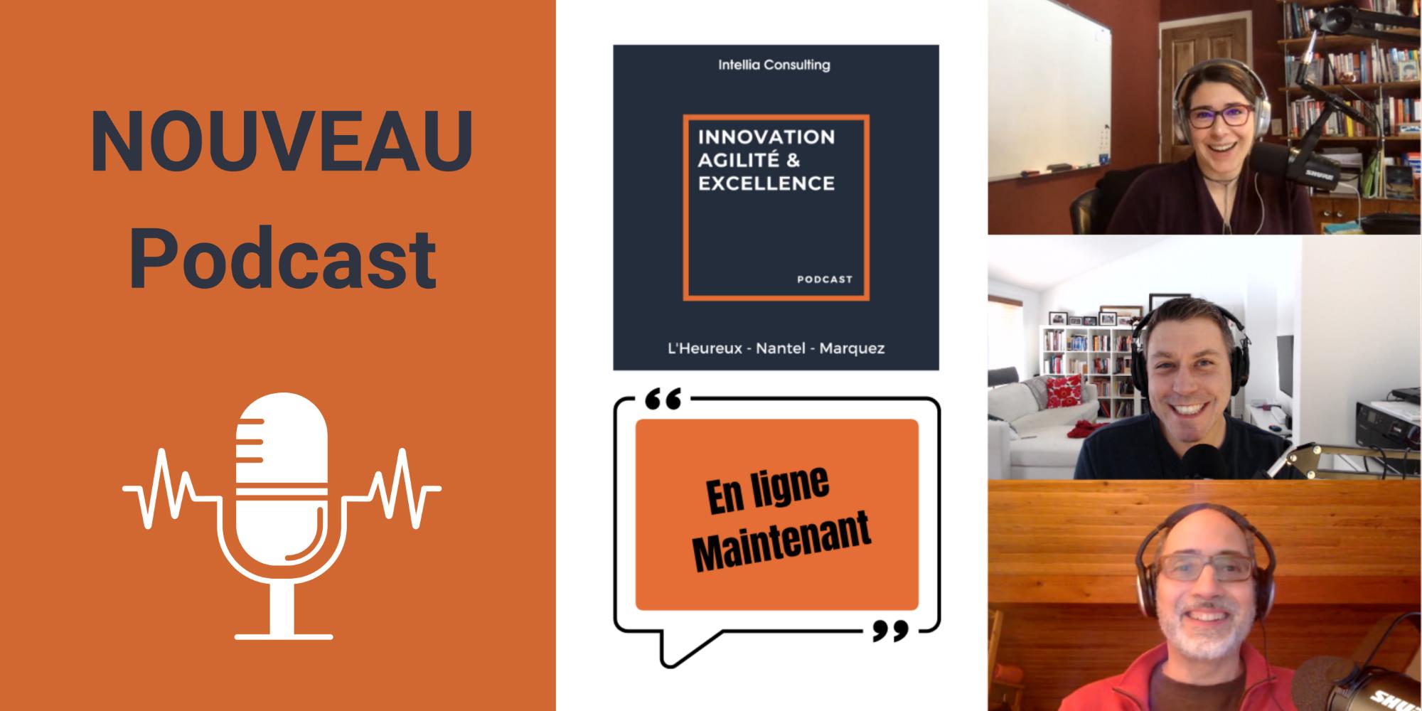 Innovation Agilité Excellence, nous nous présentons un nouveau podcast en français pour vous aider à accélérer la croissance de votre organisation dans un monde turbulent.