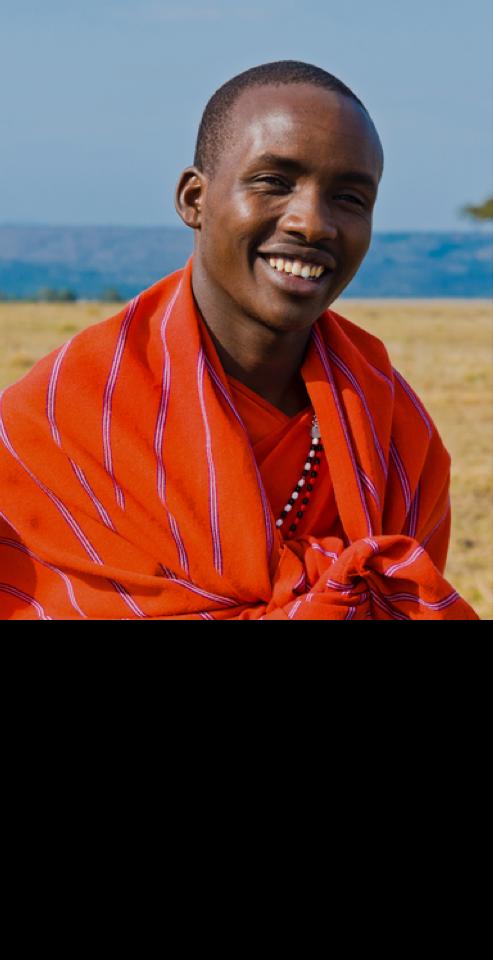 Masai (Maasai) in the savannah, Kenya