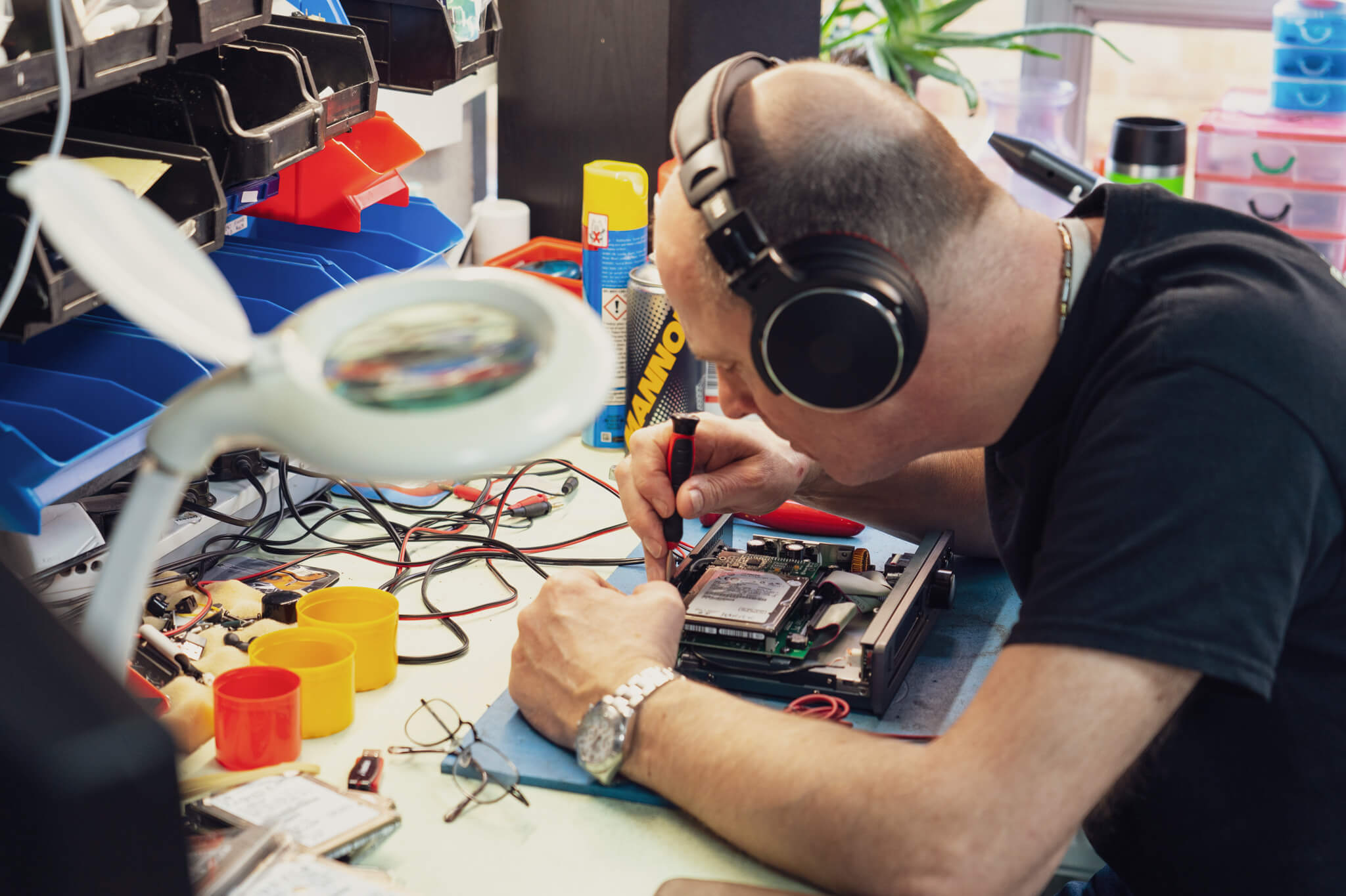 Jon repairing Brennan device