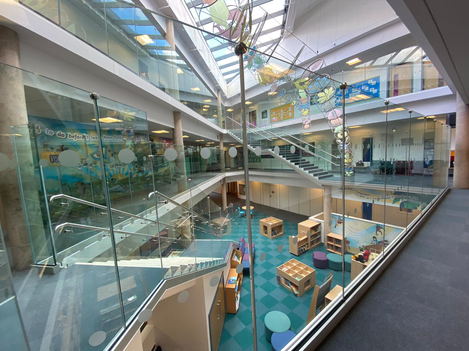 GR were asked to design and install a new glass balustrading solution for this Midlands based School.