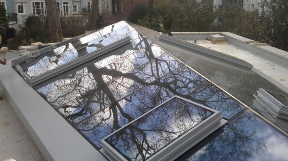 Rooflight installation at a high-end residential property in the exclusive area of Holland Park London