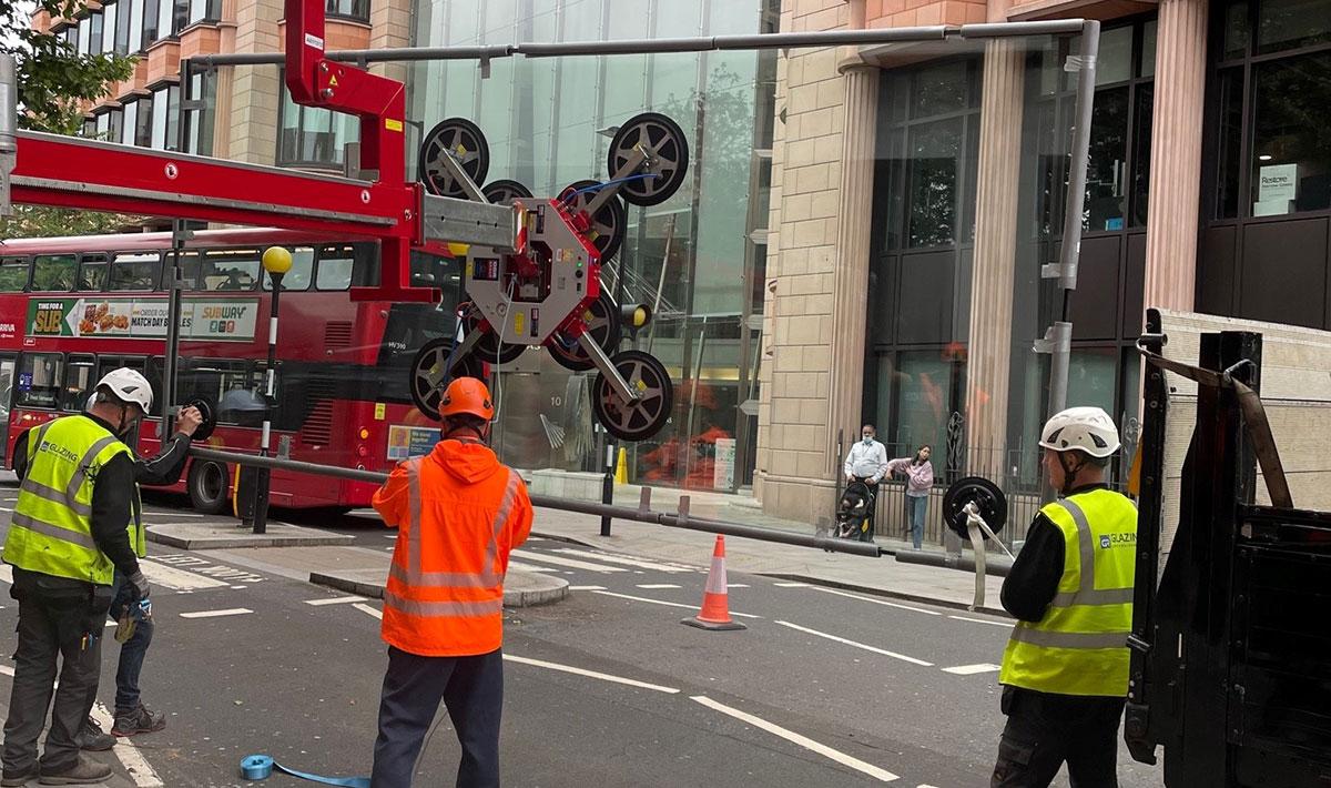 Operation - Oversized Glass Unit Installation – London