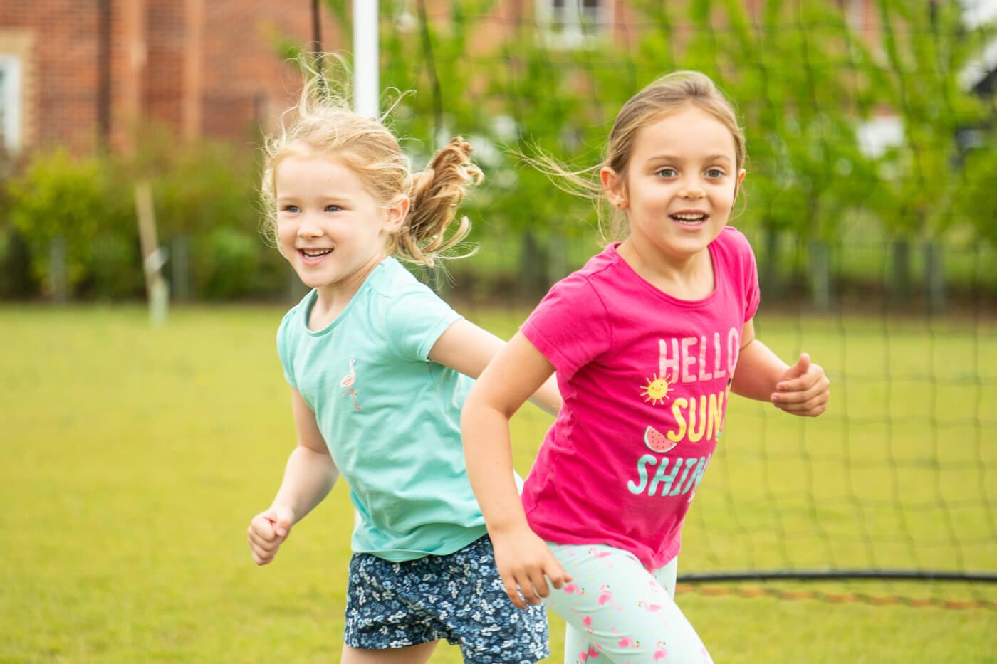 Young children enjoying the outdoors.