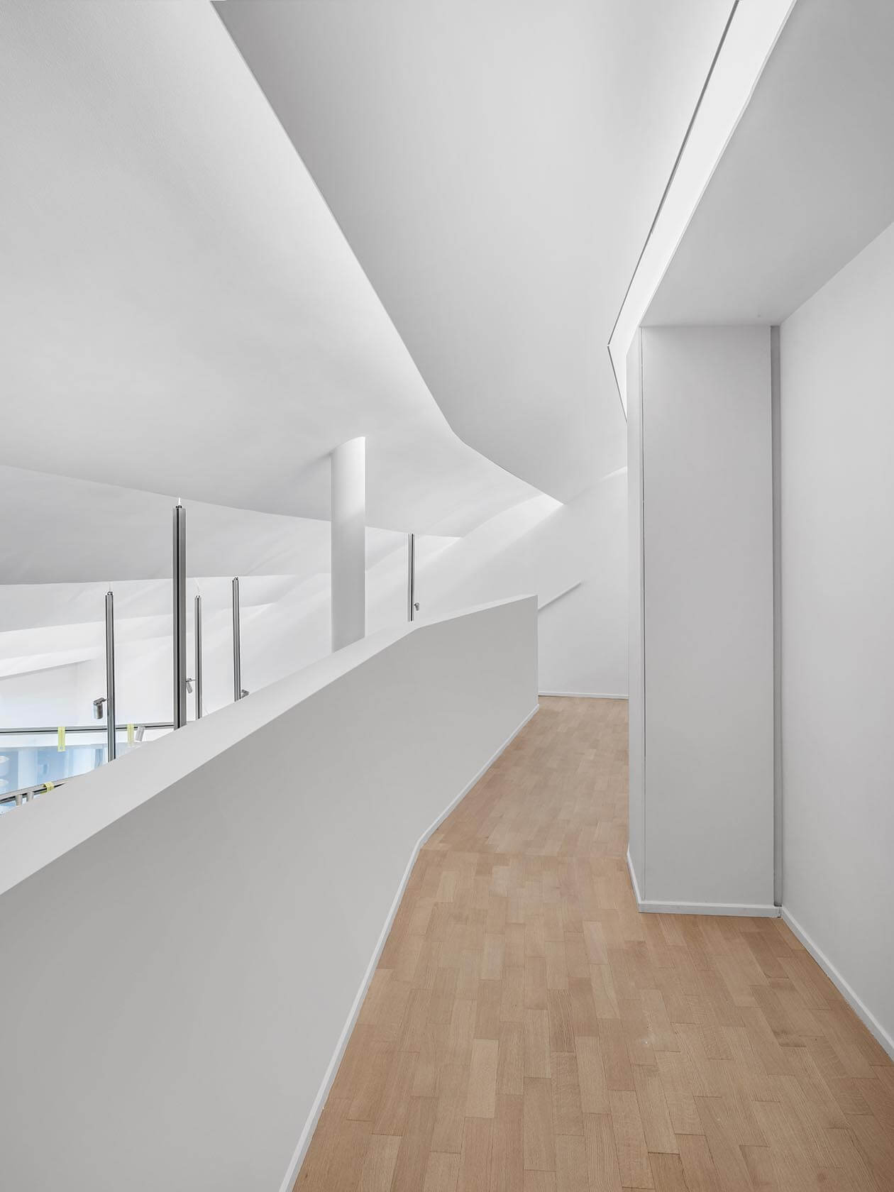 Gallery level of newly pre-opened Laufen Space Milano.