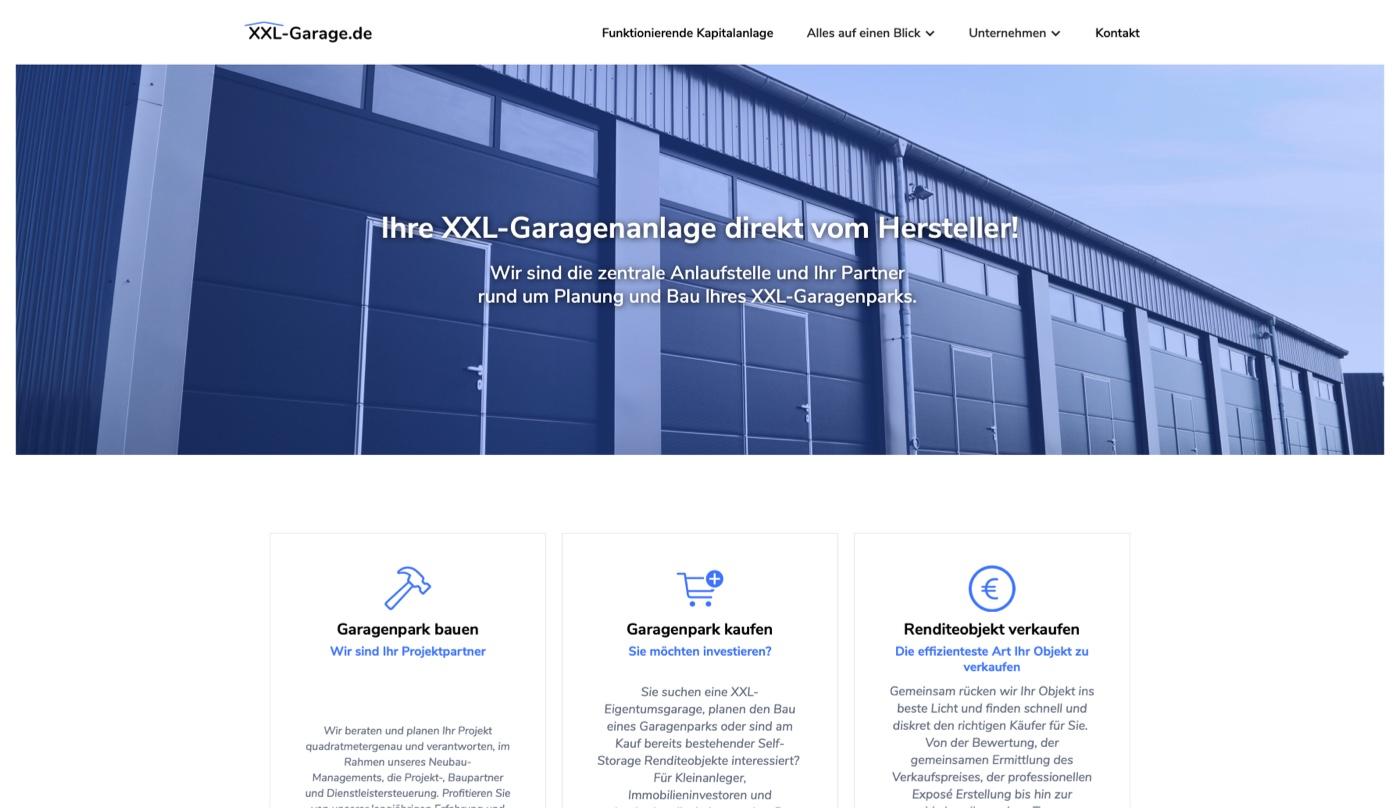 Portfolio - XXL-Garage.de - eXpert Bauparter 24 GmbH