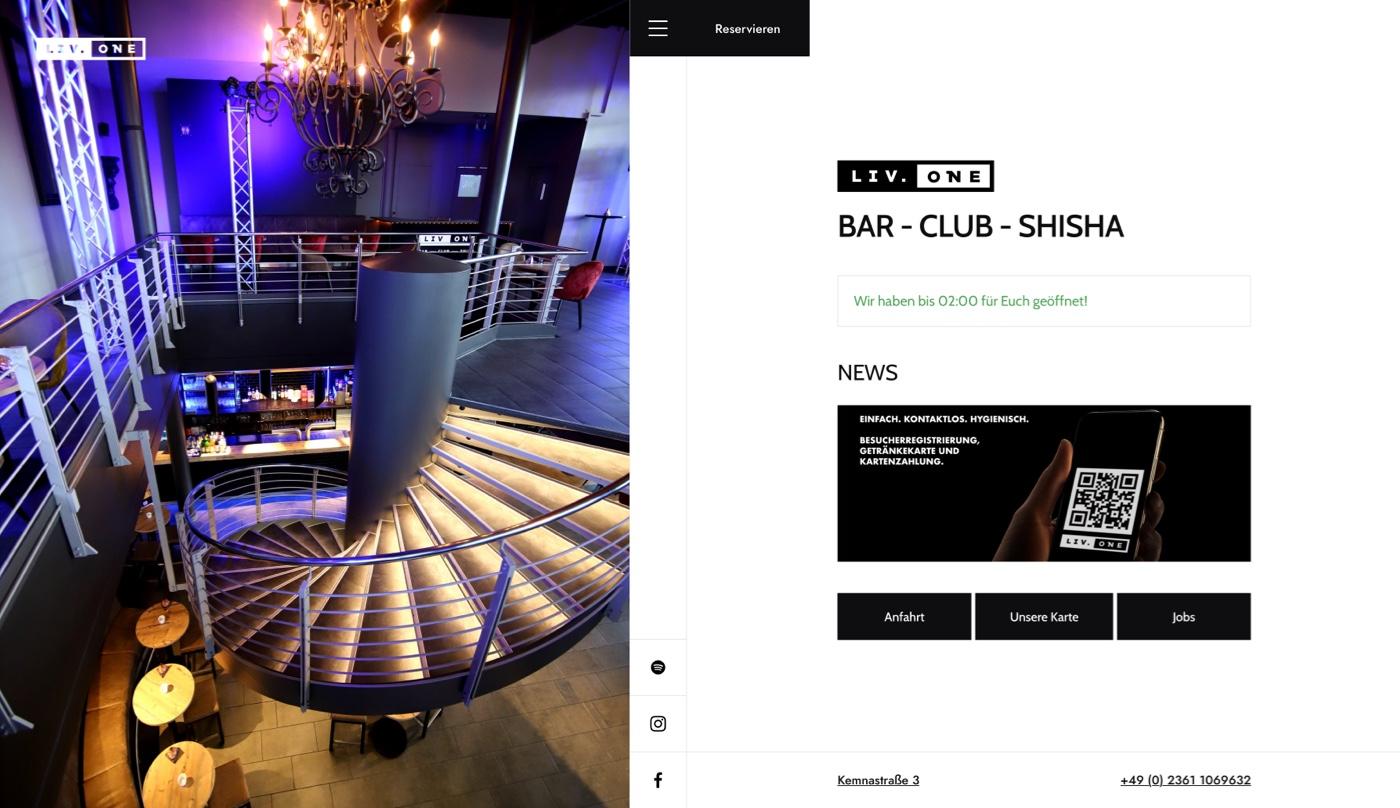 Portfolio - Liv One Bar Recklinghausen