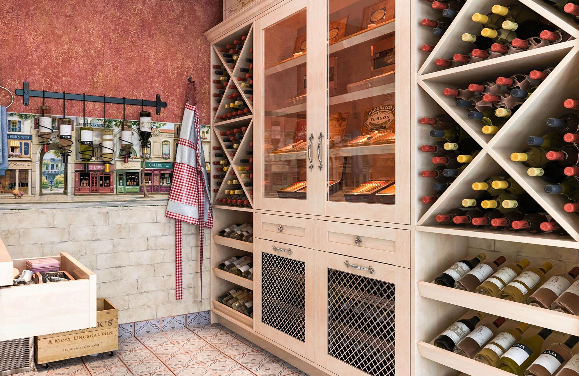 Closet Factory Wine Storage
