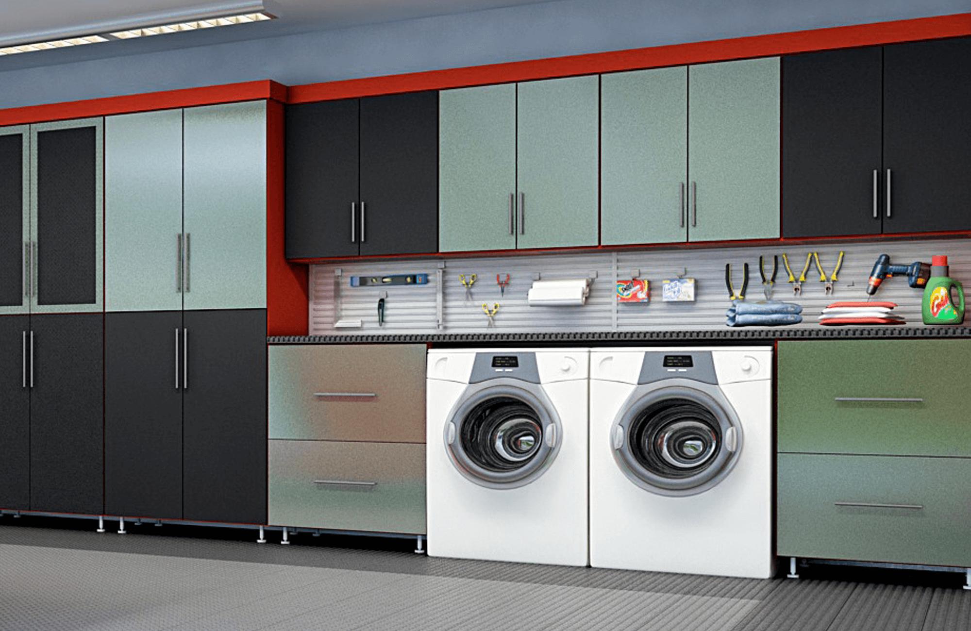 Closet Factory garage laundry space