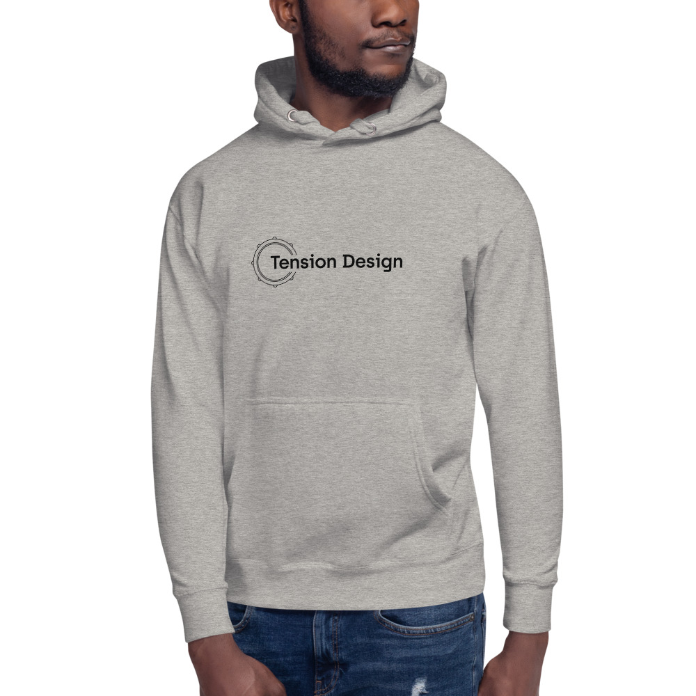 Carbon Gray – Tension Design Logo Front / Back Unisex Hoodie