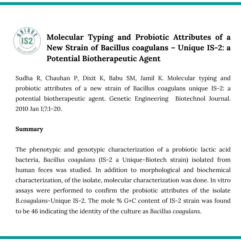 UBL Bacillus coagulans Vitro5
