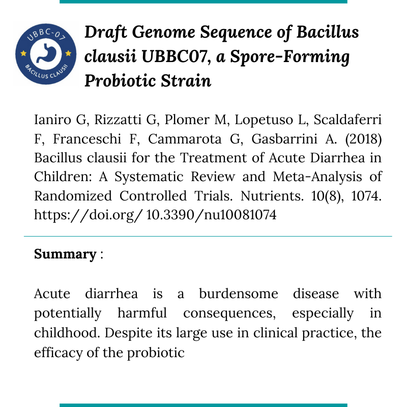 UBL Research Bacillus clausii5