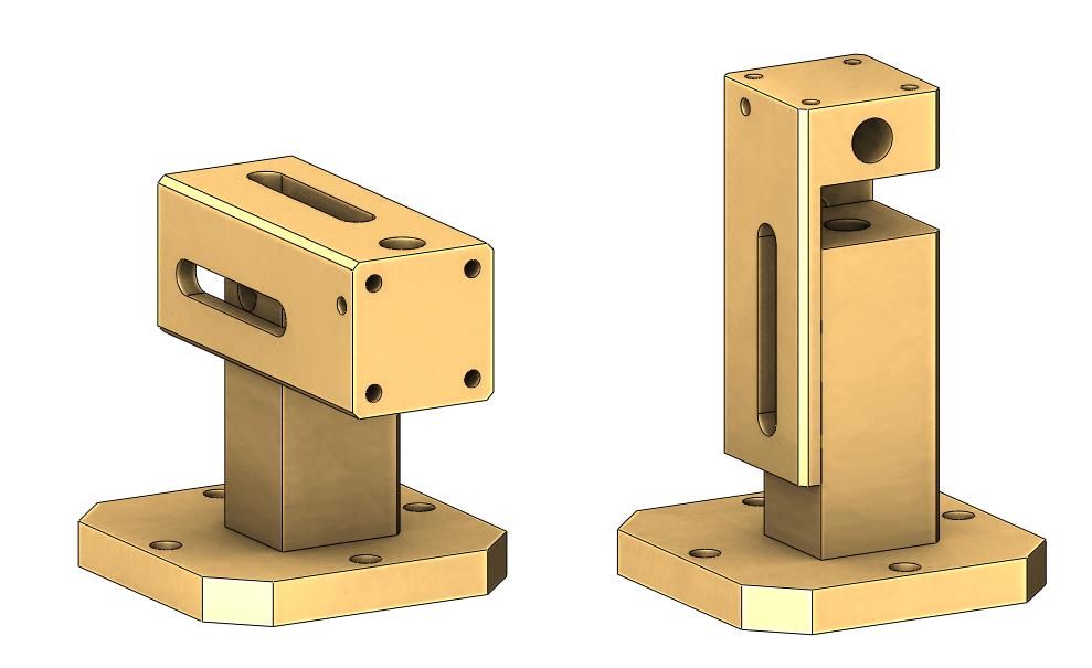 Adjustable Sample Mount Assembly (31mm-43mm) for Nanopositioner Stack