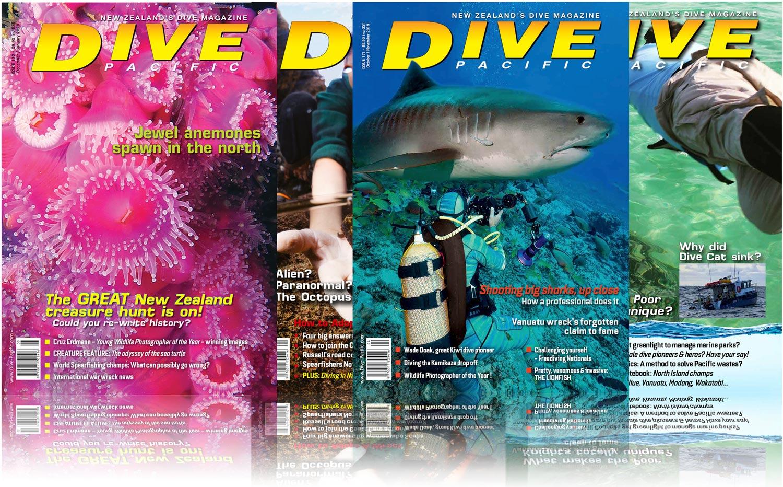 Dive Pacific Magazine spread