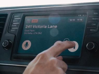 Parcel delivery voice assistant vehicle