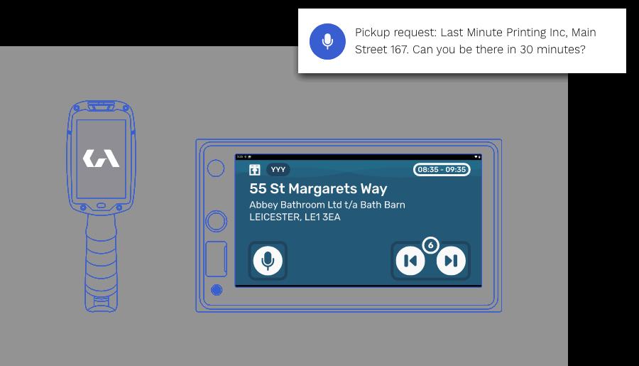 Delivery scanner vehicle IVI