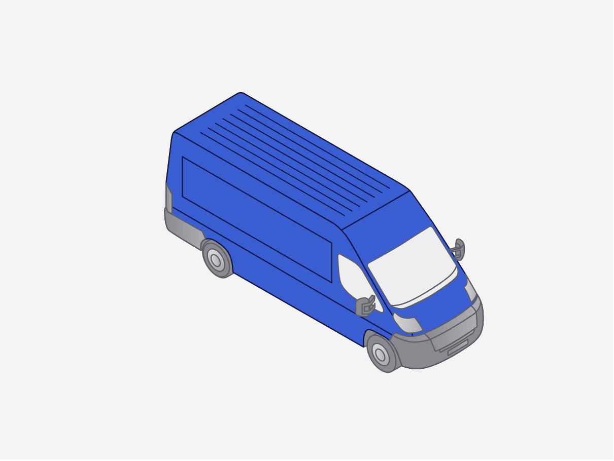 Last mile parcel delivery van