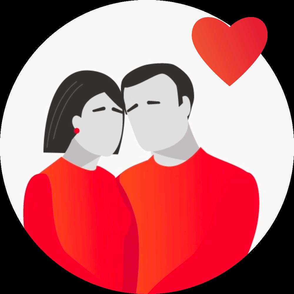 Kjærlig par som står nær hverandre - Parweb