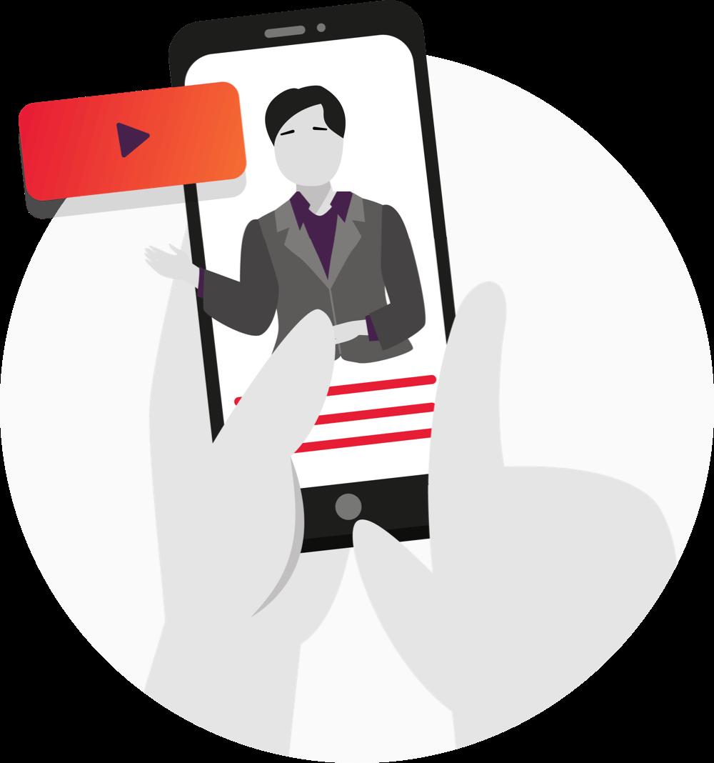 Person bruker parterapi via en mobil - Parweb