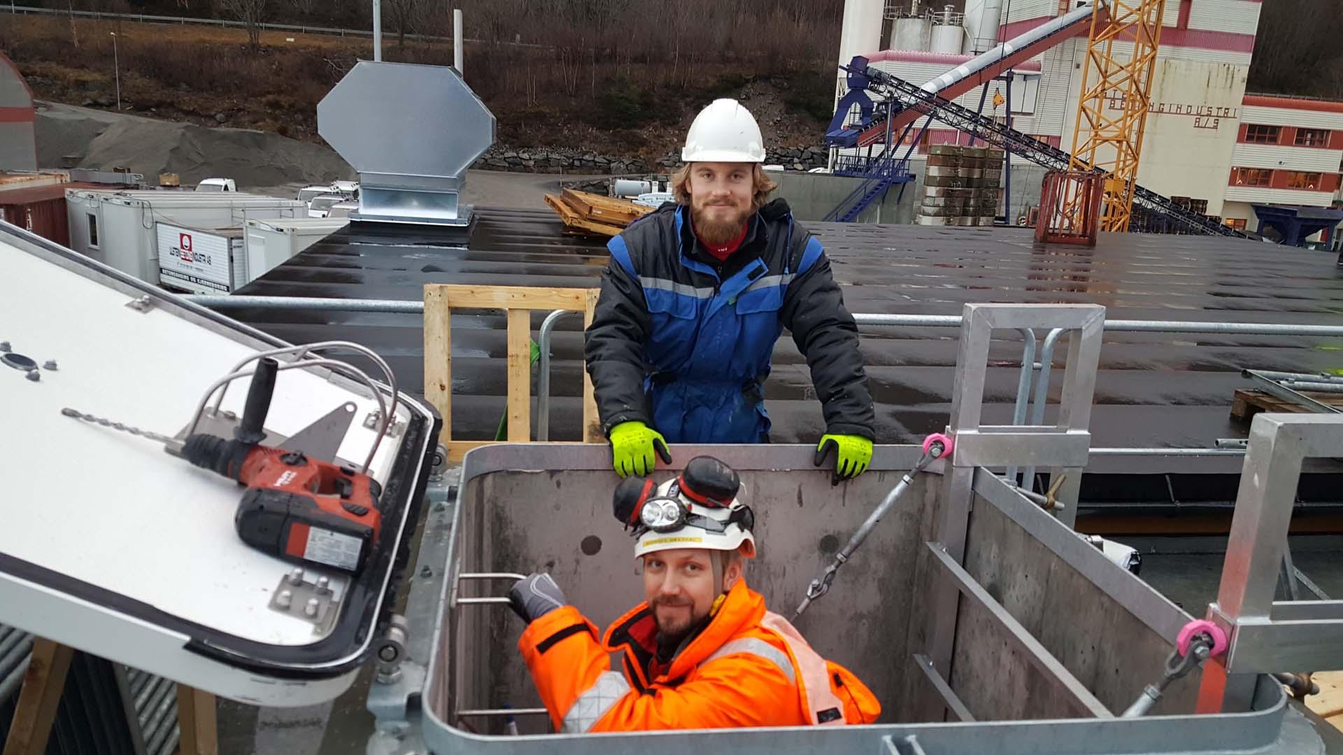Bilde av Andreas og Håkon, noen av våre ingeniører