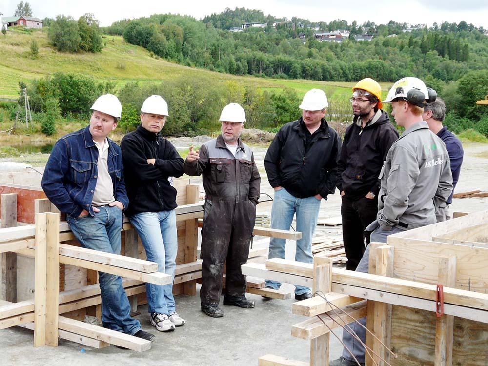 Bilde av arbeidere fra Marine Construction