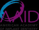 American academy of implant dentistry logo.