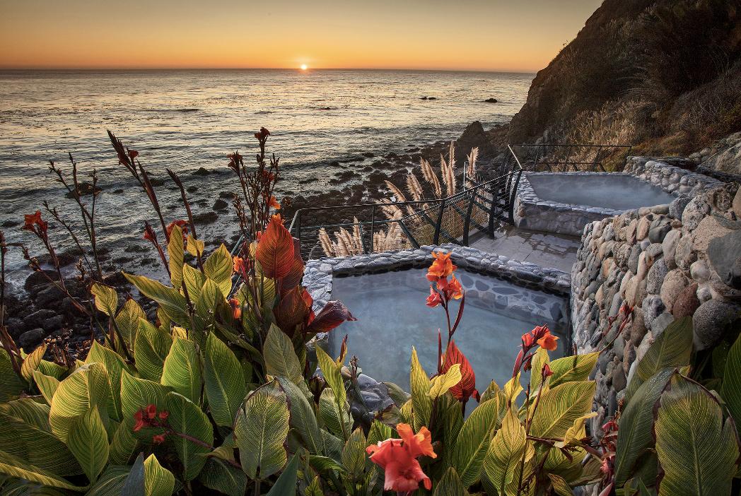 hot springs photo overlooking the ocean