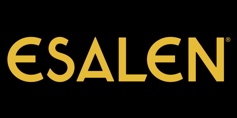 Esalen logo with yellow font