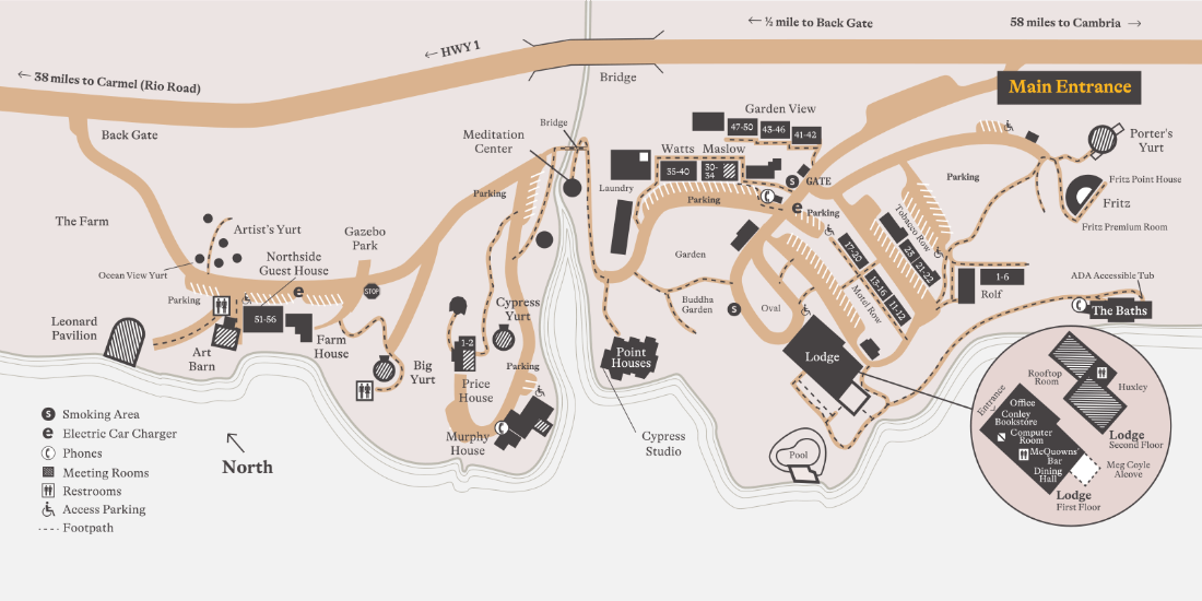the esalen campus map
