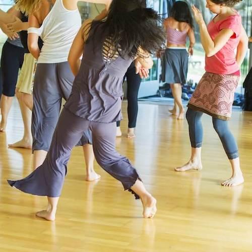 Dancing in the Leonard Pavilion at Esalen.