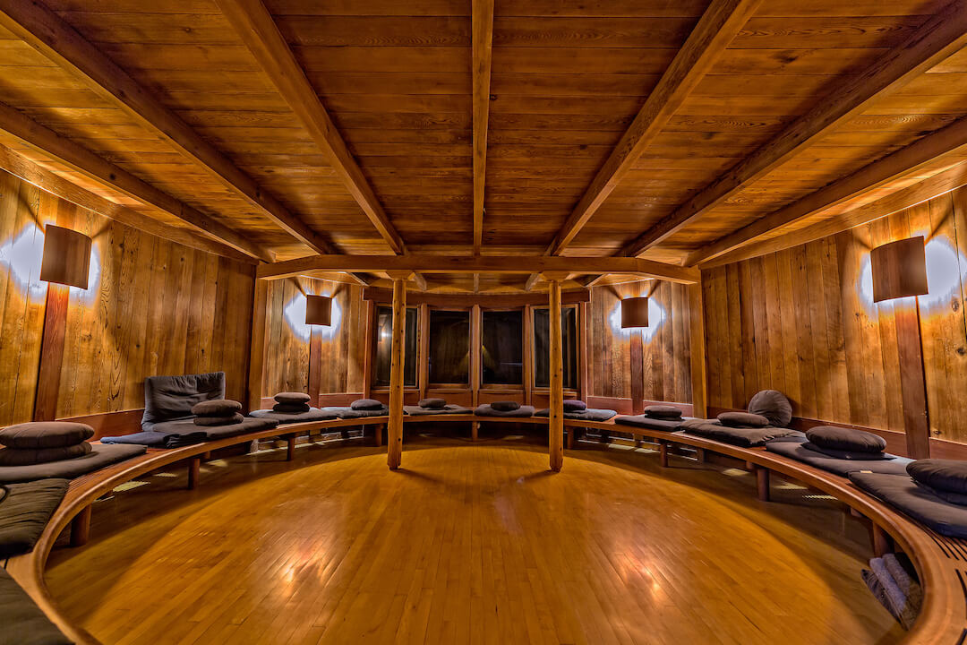 Esalen's Meditation Hut is available 24 hours for silent contemplation.