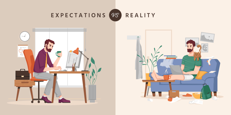Work-From-Home vs. Reality