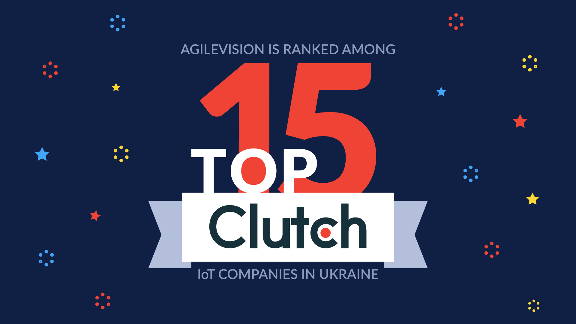 AgileVision is ranked among TOP-15 IoT companies in Ukraine by Clutch