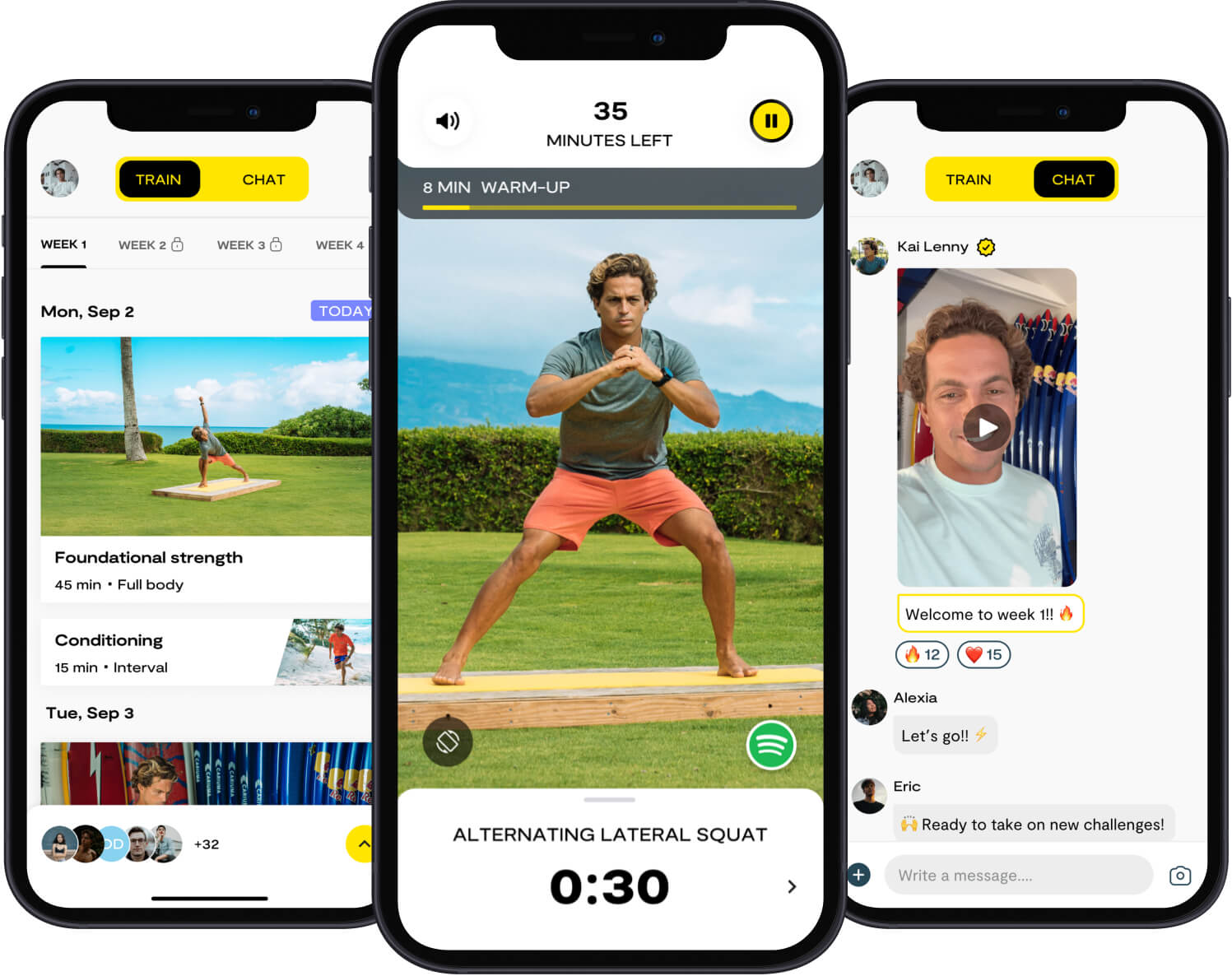 some example screenshots of the masters app's features