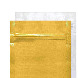 Gold/Clear Mylar Bags
