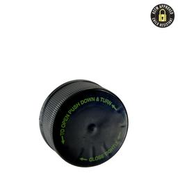 5ml Black Push and Turn CR Plastic Cap- 504 count