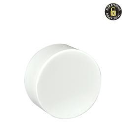 5ml White Smooth Side CR Plastic Cap- 504 coun