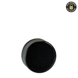 5ml Black Rigid Side CR Plastic Cap - 504 count