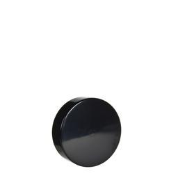 7ml Black Smooth Side Plastic Cap - 350 count