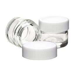 5ml Glass Container w/ White Screw Cap - 250 count