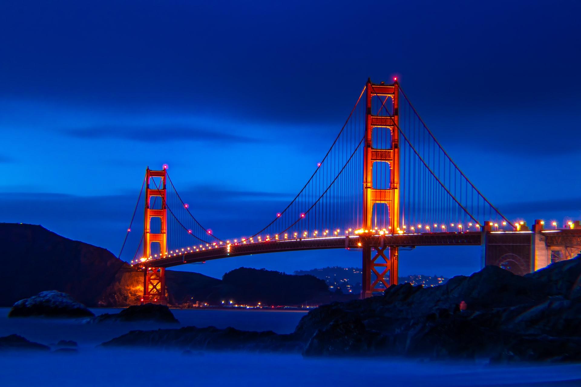 San Francisco Bridge at Night