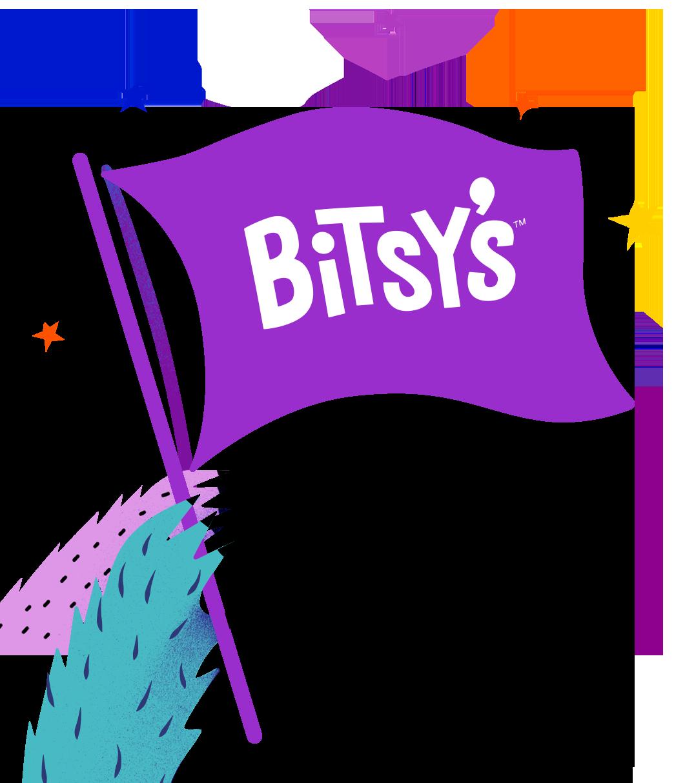 Monster hand illustration with Bitsy's flag.